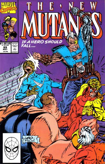 Cover for The New Mutants (Marvel, 1983 series) #89 [Direct Edition]