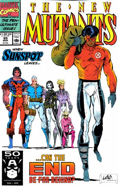 Cover for The New Mutants (Marvel, 1983 series) #99