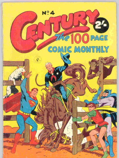 Cover for Century, The 100 Page Comic Monthly (K. G. Murray, 1956 series) #4