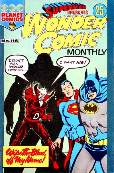 Cover for Superman Presents Wonder Comic Monthly (K. G. Murray, 1965 ? series) #116