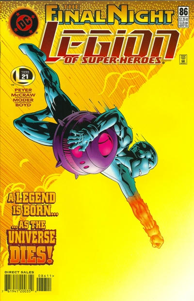Cover for Legion of Super-Heroes (DC, 1989 series) #86