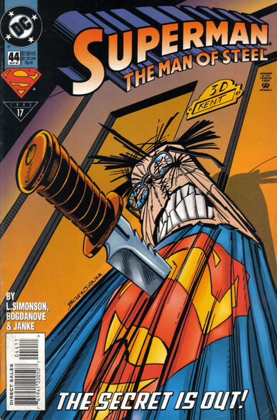 Cover for Superman: The Man of Steel (DC, 1991 series) #44
