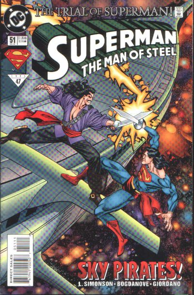 Cover for Superman: The Man of Steel (DC, 1991 series) #51