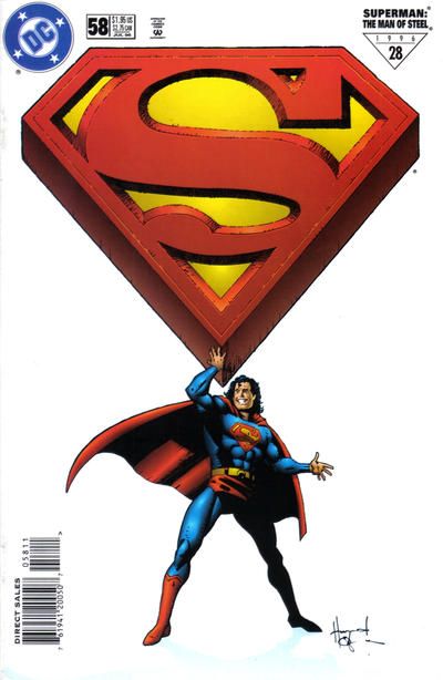 Cover for Superman: The Man of Steel (DC, 1991 series) #58