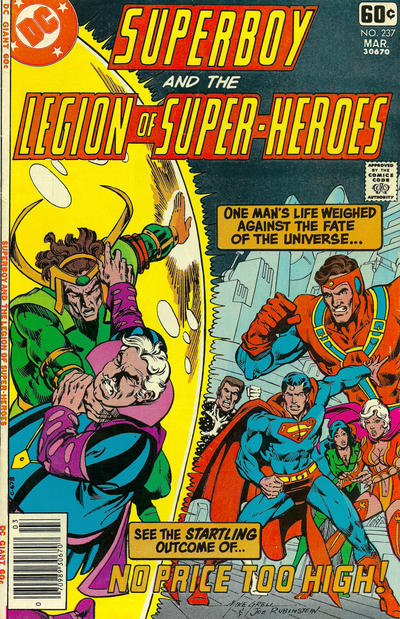 Cover for Superboy & the Legion of Super-Heroes (DC, 1977 series) #237