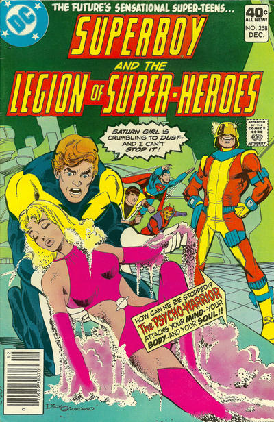 Cover for Superboy & the Legion of Super-Heroes (DC, 1977 series) #258 [Whitman]