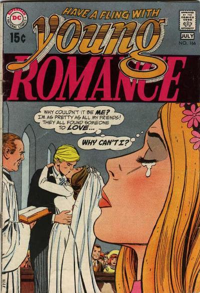 Cover for Young Romance (DC, 1963 series) #166