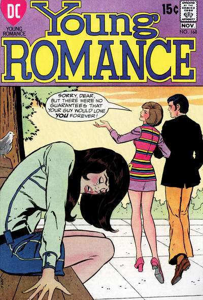 Cover for Young Romance (DC, 1963 series) #168