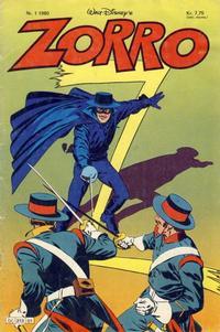 Cover Thumbnail for Zorro (Hjemmet / Egmont, 1980 series) #1/1980