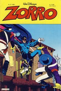 Cover Thumbnail for Zorro (Hjemmet / Egmont, 1980 series) #8/1981