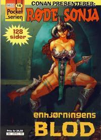 Cover Thumbnail for Pocketserien (Bladkompaniet / Schibsted, 1995 series) #16 - Røde Sonja - Enhjørningens blod