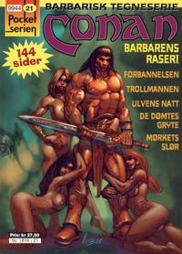 Cover Thumbnail for Pocketserien (Bladkompaniet / Schibsted, 1995 series) #21 - Conan - Barbarens raseri