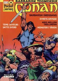 Cover Thumbnail for Pocketserien (Bladkompaniet / Schibsted, 1995 series) #28 - Conan - Barbarisk dødssang