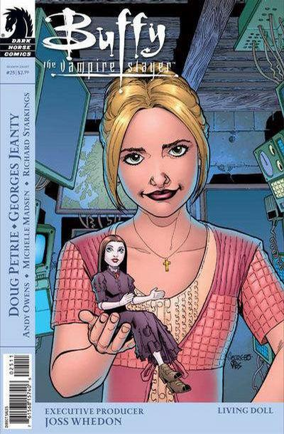 Cover for Buffy the Vampire Slayer Season Eight (Dark Horse, 2007 series) #25 [Alternate Cover - Georges Jeanty, Dexter Vines, & Michelle Madsen]