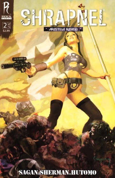 Cover for Shrapnel (Radical Comics, 2009 series) #2
