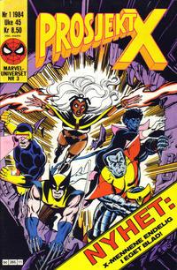 Cover Thumbnail for Prosjekt X (Semic, 1984 series) #1/1984