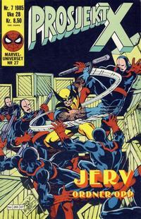 Cover Thumbnail for Prosjekt X (Semic, 1984 series) #7/1985