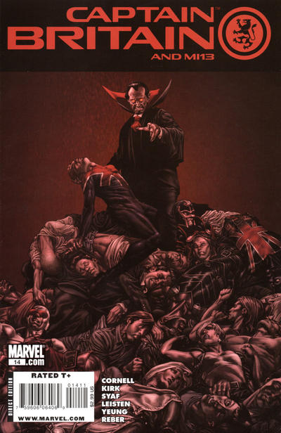 Cover for Captain Britain and MI: 13 (Marvel, 2008 series) #14