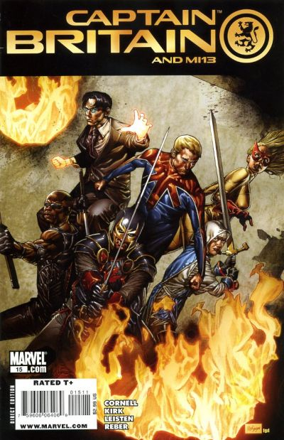 Cover for Captain Britain and MI: 13 (Marvel, 2008 series) #15