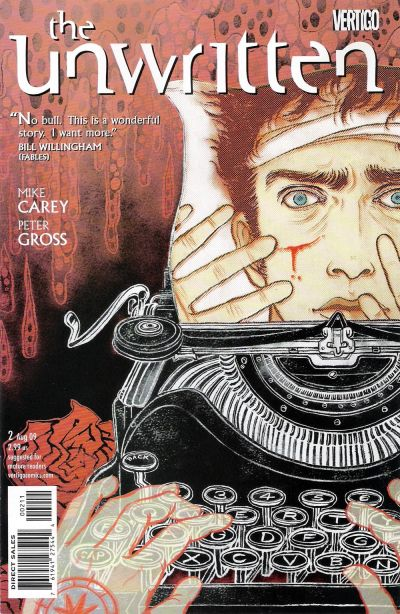 Cover for The Unwritten (DC, 2009 series) #2