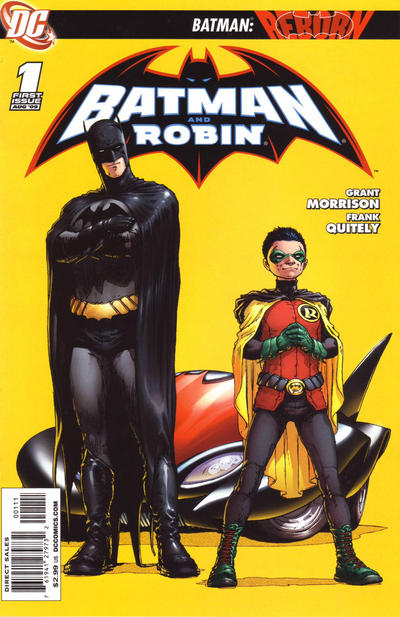Cover for Batman and Robin (DC, 2009 series) #1 [4th Printing - White Background]