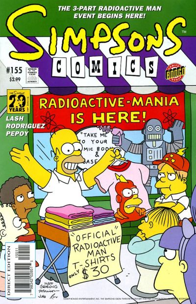 Cover for Simpsons Comics (Bongo, 1993 series) #155