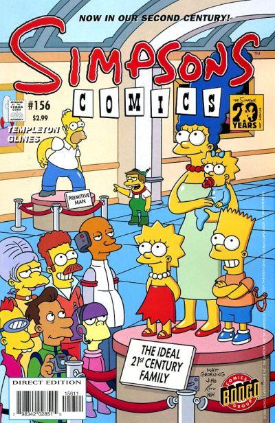 Cover for Simpsons Comics (Bongo, 1993 series) #156