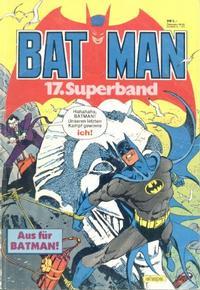 Cover Thumbnail for Batman Superband (Egmont Ehapa, 1974 series) #17