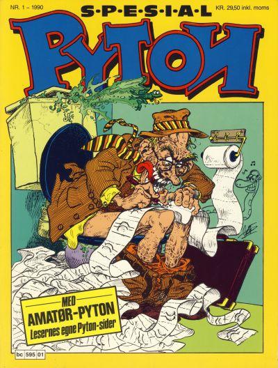 Cover for Pyton Spesial [Spesial Pyton] (Bladkompaniet / Schibsted, 1990 series) #1/1990