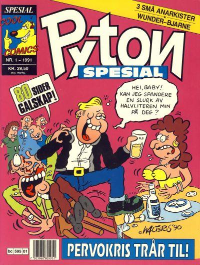 Cover for Pyton Spesial [Spesial Pyton] (Bladkompaniet / Schibsted, 1990 series) #1/1991