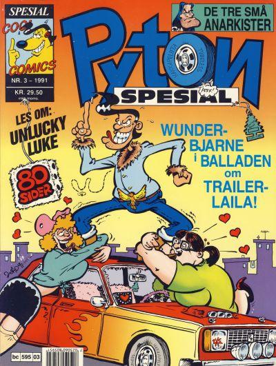 Cover for Pyton Spesial [Spesial Pyton] (Bladkompaniet / Schibsted, 1990 series) #3/1991
