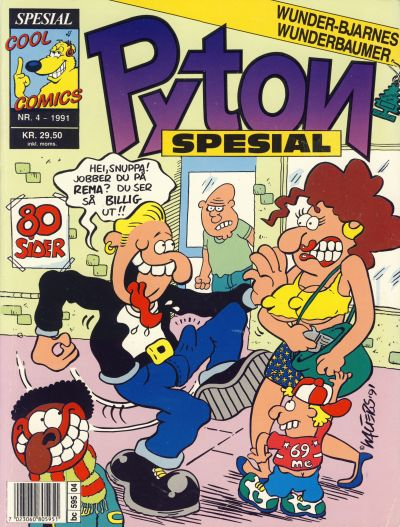 Cover for Pyton Spesial [Spesial Pyton] (Bladkompaniet / Schibsted, 1990 series) #4/1991