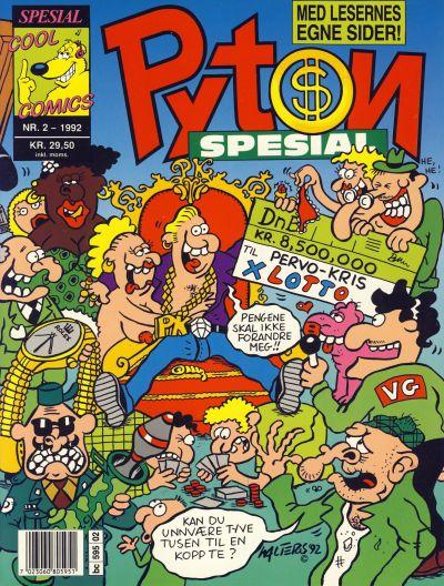 Cover for Pyton Spesial [Spesial Pyton] (Bladkompaniet / Schibsted, 1990 series) #2/1992