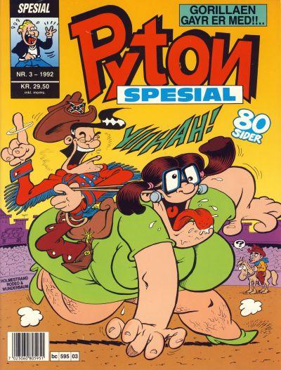 Cover for Pyton Spesial [Spesial Pyton] (Bladkompaniet / Schibsted, 1990 series) #3/1992