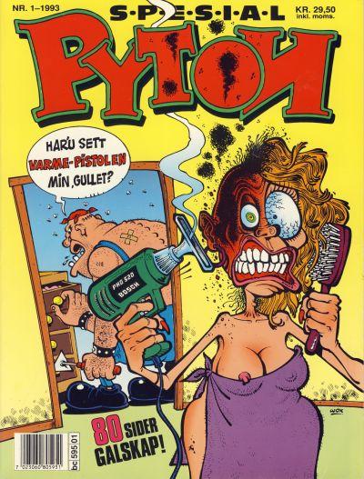 Cover for Pyton Spesial [Spesial Pyton] (Bladkompaniet / Schibsted, 1990 series) #1/1993