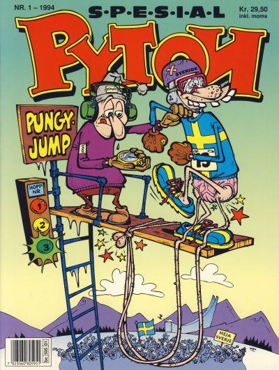 Cover for Pyton Spesial [Spesial Pyton] (Bladkompaniet / Schibsted, 1990 series) #1/1994 / 96b