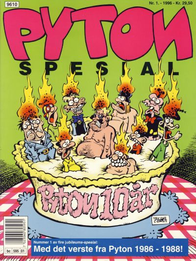 Cover for Pyton Spesial [Spesial Pyton] (Bladkompaniet / Schibsted, 1990 series) #1/1996