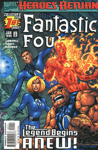 Cover Thumbnail for Fantastic Four (Marvel, 1998 series) #1 [Direct Edition]