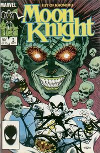 Cover Thumbnail for Moon Knight (Marvel, 1985 series) #3 [Direct]