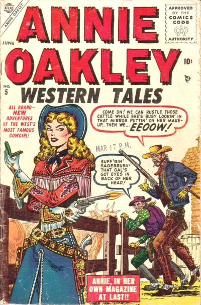 Cover for Annie Oakley (Marvel, 1955 series) #5