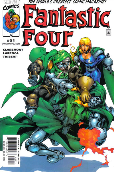 Cover for Fantastic Four (Marvel, 1998 series) #31 [Direct Edition]