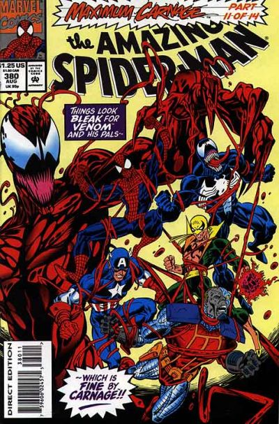 Cover for The Amazing Spider-Man (Marvel, 1963 series) #380 [Newsstand]