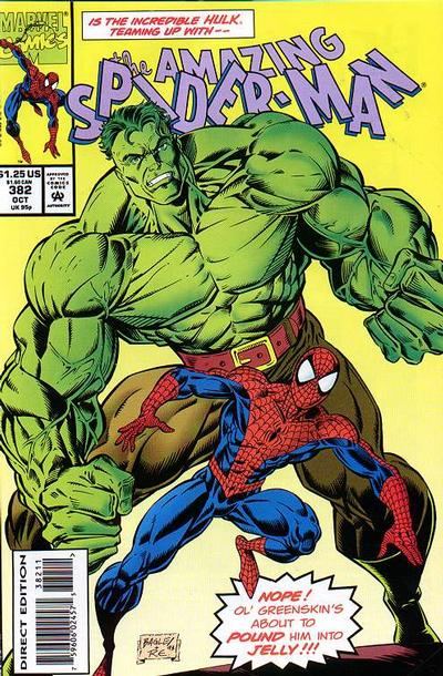 Cover for The Amazing Spider-Man (Marvel, 1963 series) #382 [Direct Edition]