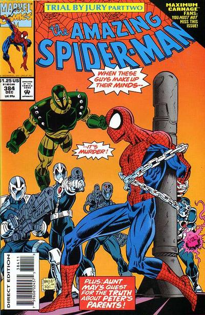Cover for The Amazing Spider-Man (Marvel, 1963 series) #384 [Newsstand]