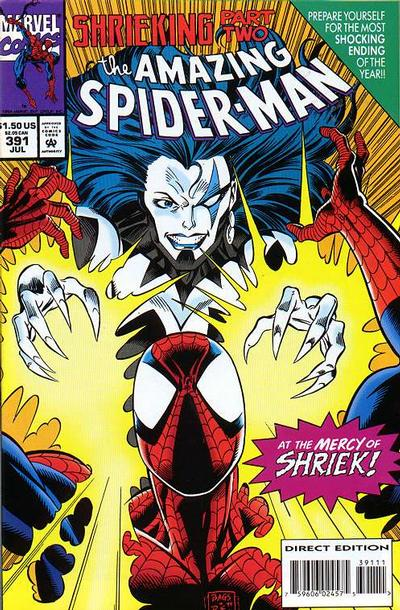 Cover for The Amazing Spider-Man (Marvel, 1963 series) #391 [Direct Edition]