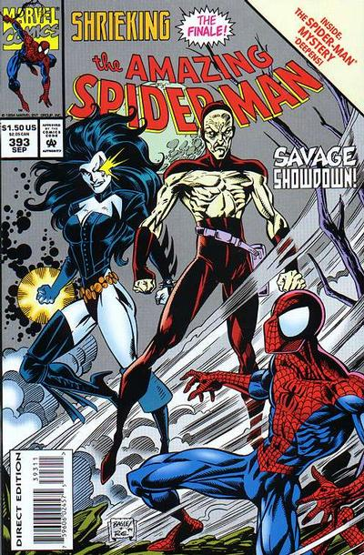 Cover for The Amazing Spider-Man (Marvel, 1963 series) #393 [Direct Edition]