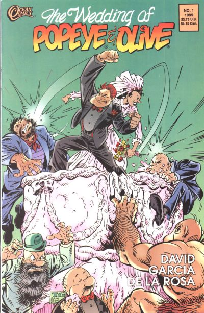 Cover for The Wedding of Popeye and Olive (Ocean Comics, 1999 series) #1