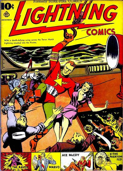Cover for Lightning Comics (Ace Magazines, 1940 series) #v1#4