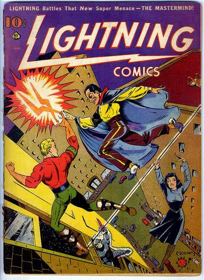 Cover for Lightning Comics (Ace Magazines, 1940 series) #v2#1