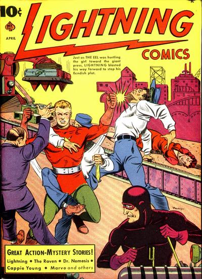 Cover for Lightning Comics (Ace Magazines, 1940 series) #v2#6